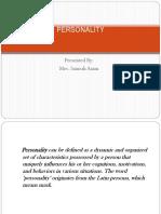Week 11 Personality