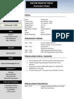 Daftar Riwayat Hidup (CV) Ardi