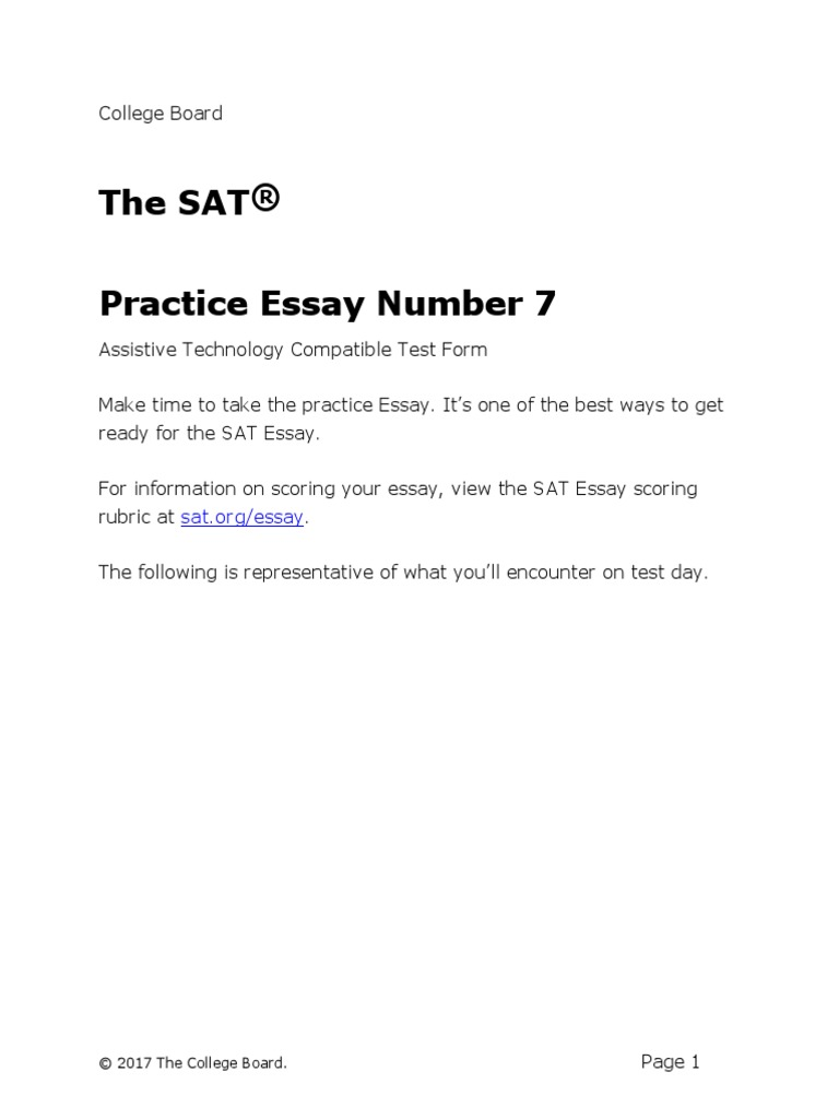 Doc Sat Practice Test  Essay Prompt Assistive Technology  Sat  Essays  Essays On Science And Religion also How To Start A Science Essay  The Help Book Review