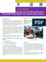 Case Study Biomass Briquette Boiler Replace Oil