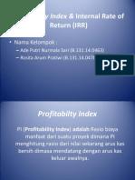 Profitabilty Index