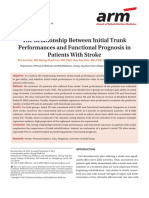 The Relationship Between Initial Trunk Performances and Functional Prognosis in Patients With Stroke