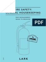 Fire Safety General Housekeeping