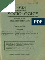 Insemnări Sociologice, Cernăuți. Anul I Nr 8 Noembrie 1935