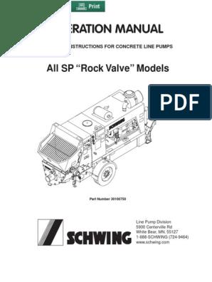 SCHWING-CONCRETE-PUMP-MANUALS pdf   Horsepower   Engines