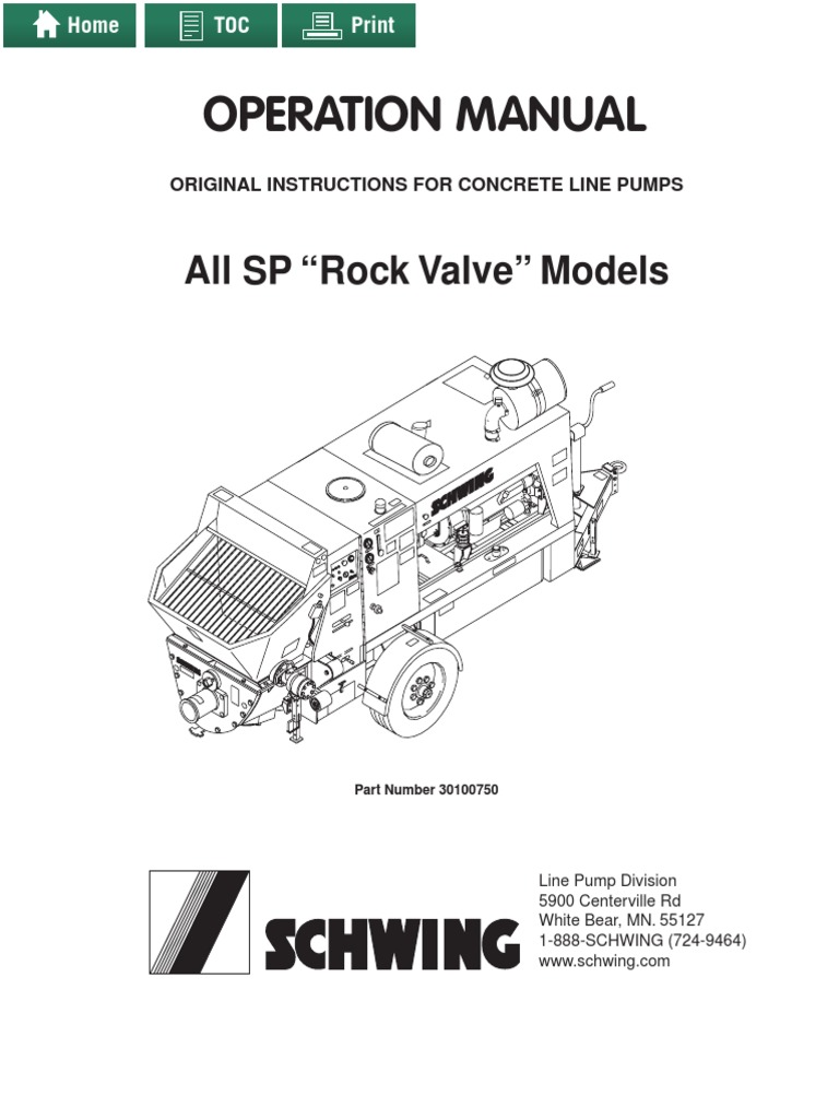 Schwing Concrete Pump Manuals Pdf Horsepower Engines