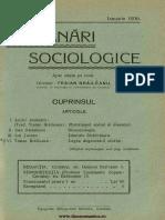 Insemnări Sociologice, Cernăuți. Anul I Nr 10 Ianuarie 1936