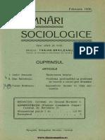 Insemnări Sociologice, Cernăuți. Anul I Nr 11 Feb 1936