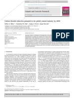 Carbon Dioxide Reduction Potential in the Global Cement Industry by 2050