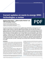 Current Updates on Waste to Energy