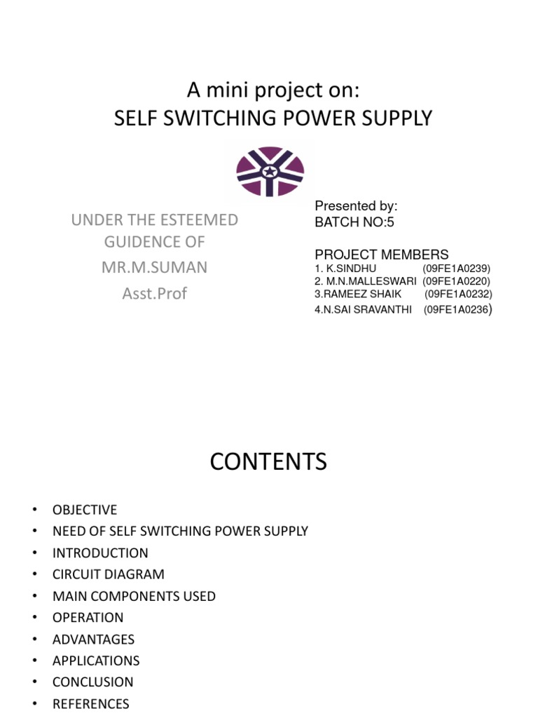 Self Switching Power Supply Project Software Help Mini Circuit Diagram Conclusion
