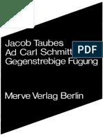 Jacob Taubes-Ad Carl Schmitt_ GegenstrebigeFügung-Merve (2011)