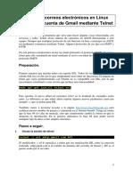 Envío de correos mediante Telnet en Linux