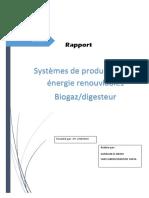 Biogaz/digesteur