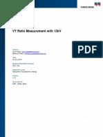CPC 100 -VT Ratio Measurement With 12kV