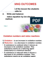 redox equations