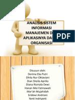 Analisis Sistem Informasi Manajemen Dan Aplikasinya Dalam Organisasi