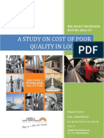 A Study on Cost of Poor Quality in Logistics