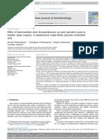 Effect of Intermediate Dose Dexamethasone on Post-operative Pain in Lumbar Spine Surgery