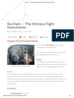 Six Pack - The Primary Flight Instruments - Cockpit Instrument Panel