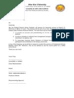 Ojt Seminar- Request Letter