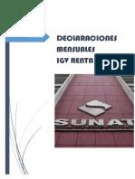 Declaraciones Mensuales Igv-ir