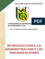 Administracion de Las Organizaciones - PRIMER TEMA
