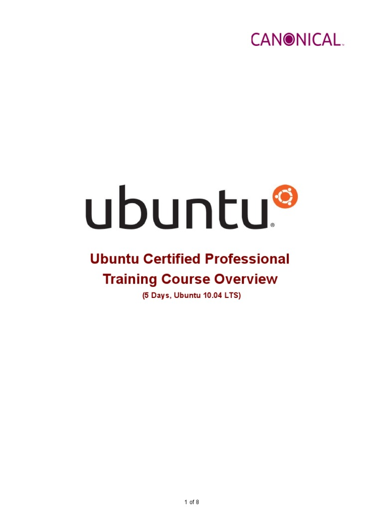 Training Ubuntu Certified Professional Overview V3 Ubuntu