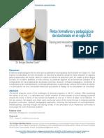 Enrique Sánchez Costa. Retos formativos y pedagógicos del Doctorado en el siglo XXI
