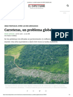 Carreteras Un Problema Global