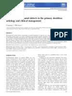 Developmental Enamel Defects in Primary Dentition