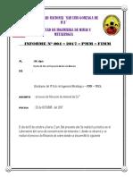 Flotacion de Cobre,,, Informe Concentracion 1