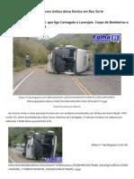 Acidente com ônibus deixa feridos em Boa Sorte - Folha Itaocarense