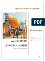 Corporate Finance Assignment Ultratech EIC Analysis