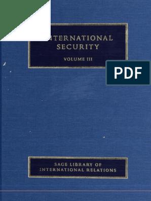 Barry Buzan and Lene Hansen-International Security Volume 3