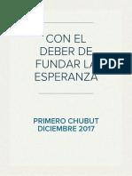 CON EL DEBER DE FUNDAR LA ESPERANZA
