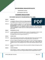 Academic Regulations UG Autonomy