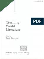 David Damrosch-Teaching World Literature-The Modern Language Associacion of America