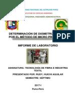 Determinacion de Diametro de Fibra Por Metodo Falta