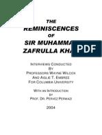 Sir Zafrulla Khan Interviews