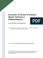 Favio Shifres y Ines Burcet (2013). Escuchar y Pensar la Musica. Bases Teoricas y Metodologicas.pdf