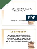 1. Secciones Del Artìculo de Investigación