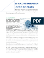 FACTORES A CONSIDERAR EN EL DISEÑO DE CASAS