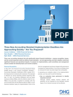 Three New Accounting Standard Implementation Deadlines Are Approaching Quickly Are You Prepared