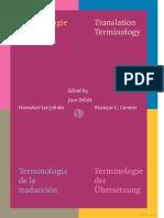 Terminologie de Traduction