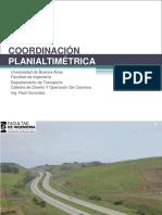 Coordinación planialtimetrica