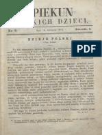Opiekun Polskich Dzieci. R.1, Nr 5 (26 Sierpnia 1867)
