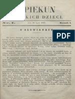 Opiekun Polskich Dzieci. R.1, Nr 1 (24 Lipca 1867)