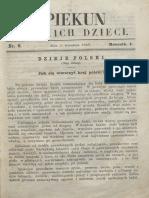 Opiekun Polskich Dzieci. R.1, Nr 6 (2 Września 1867)
