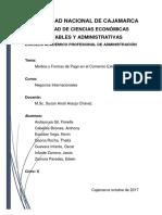 Medios y Formas de Pago Informe